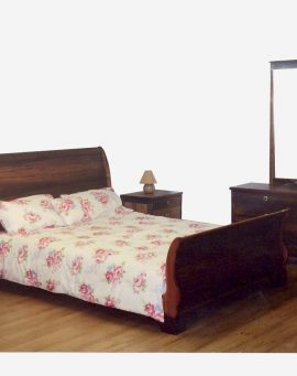 Curved back bedroom furniture range