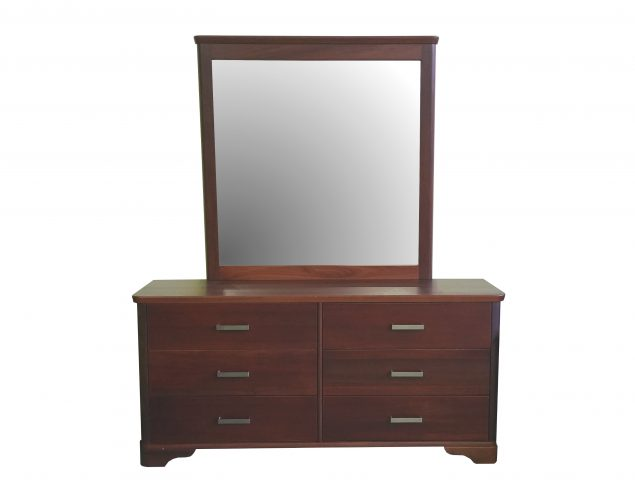 Jarrah dresser and mirror