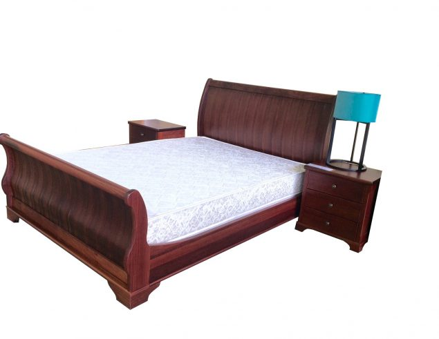 Curved back bed